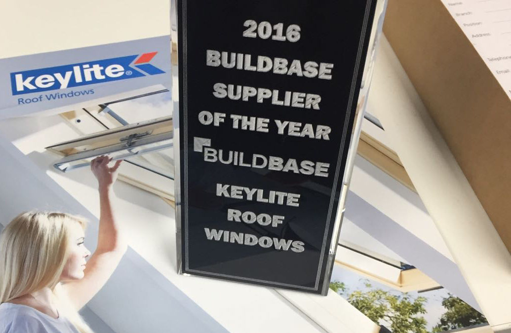 Keylite Win Buildbase Supplier of the Year for Record 2nd Year Running